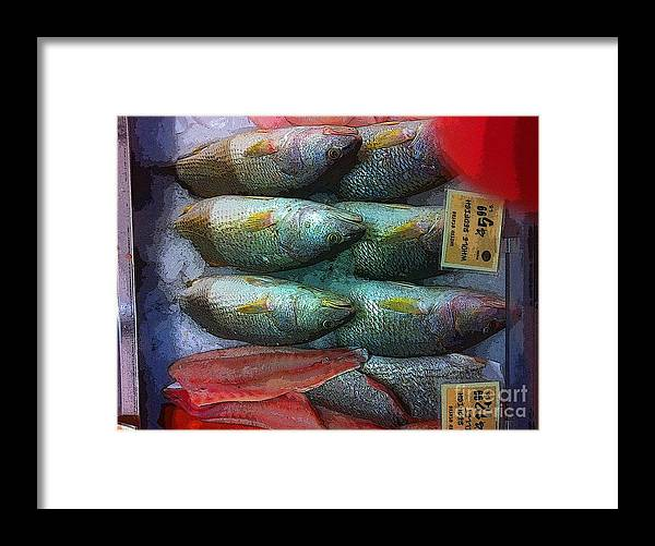 Framed Print featuring the photograph Fish Market by David Carter