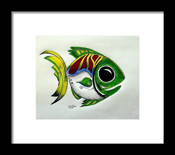 Fish Framed Print featuring the painting Fish Study 2 by J Vincent Scarpace