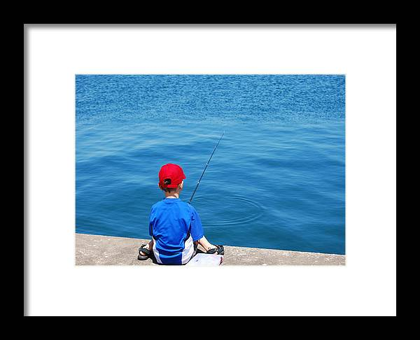 Activity Framed Print featuring the photograph Fishin' by Kim French