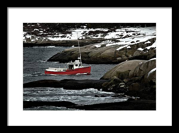 Fishing Framed Print featuring the photograph Fishing Boat by Geoff Evans