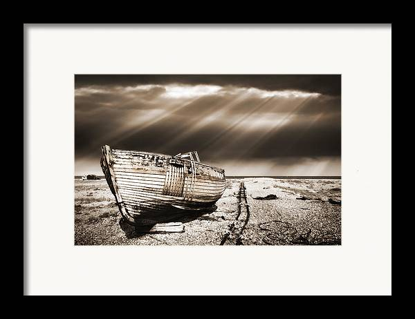 Boat Framed Print featuring the photograph Fishing Boat Graveyard 9 by Meirion Matthias