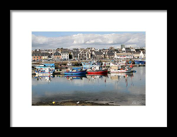 Boats Framed Print featuring the photograph Fishing Boats In The Harbor by Diana Haronis