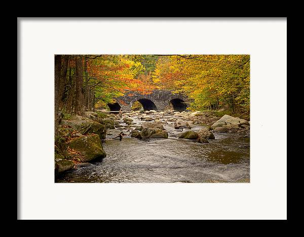 Stream Framed Print featuring the photograph Fishing Bridge I by Charles Warren