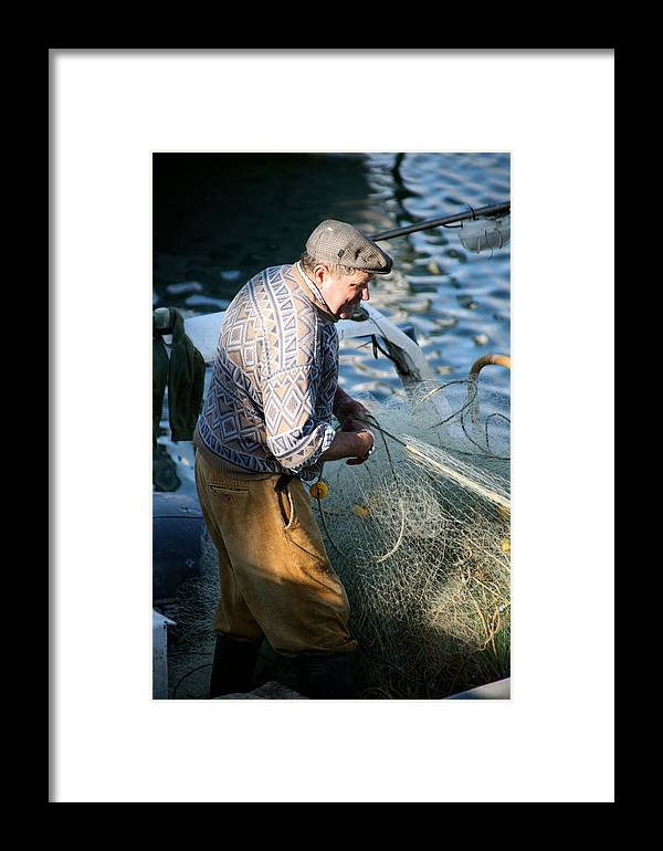 Jezcself Framed Print featuring the photograph Fishing Days by Jez C Self
