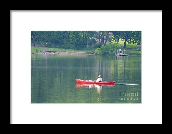 Fishing Framed Print featuring the photograph Fishing by Louise Peardon
