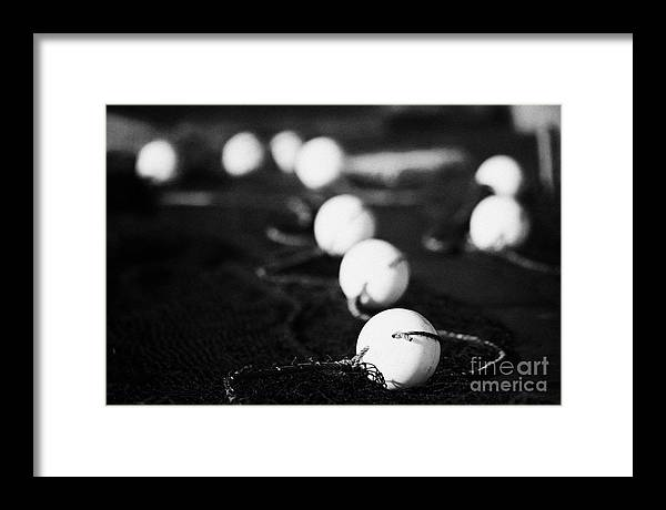 Northern Ireland Framed Print featuring the photograph Fishing Nets Drying by Joe Fox