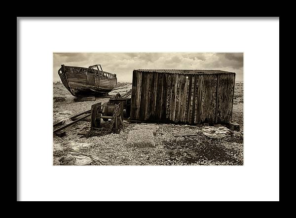 Fishing Framed Print featuring the photograph Fishing Remains at Dungeness by David Turner