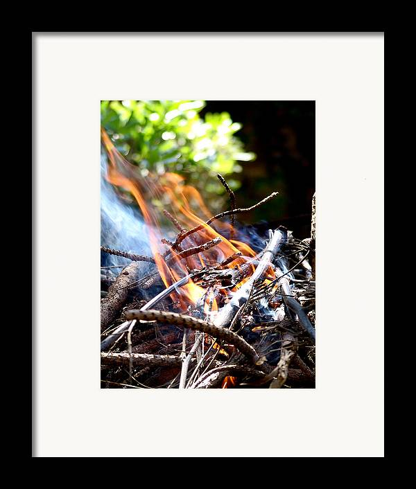 Flame Framed Print featuring the photograph Flame by Alessandro Della Pietra