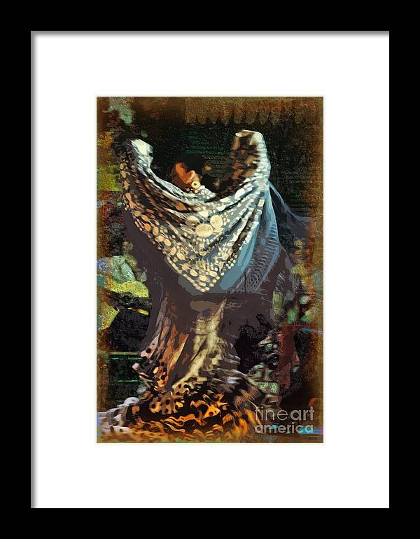 Flamenco Framed Print featuring the photograph Flamenco Series No 1 by Mary Machare