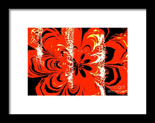 Abstract Framed Print featuring the photograph Flaming Flower by Tashia Peterman