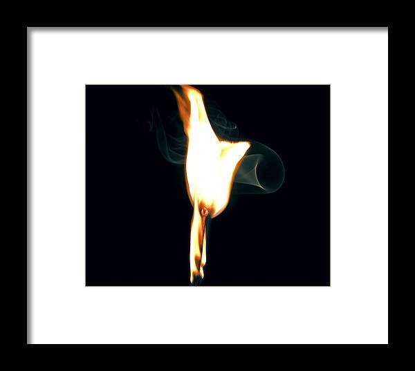 Flame Framed Print featuring the photograph Flare Up by Michael Wessel