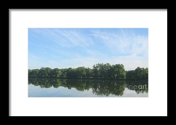 Richmond Framed Print featuring the photograph Flat Water by Nancy Dole McGuigan