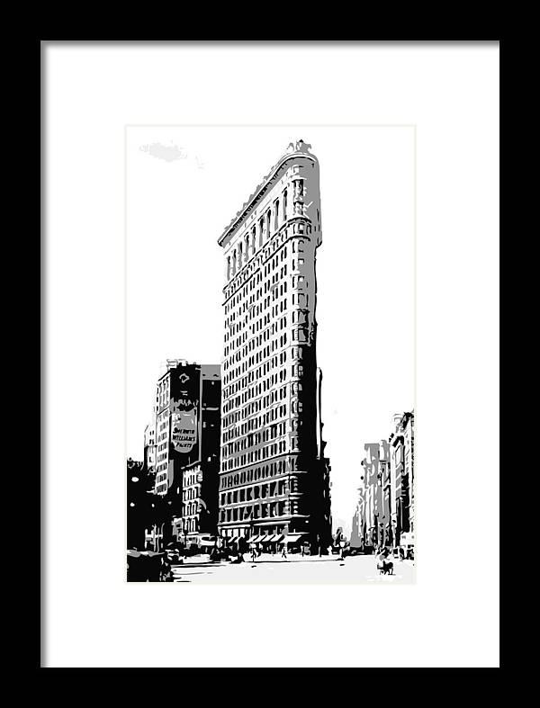 Flatiron Building Framed Print featuring the photograph Flatiron Building Bw3 by Scott Kelley