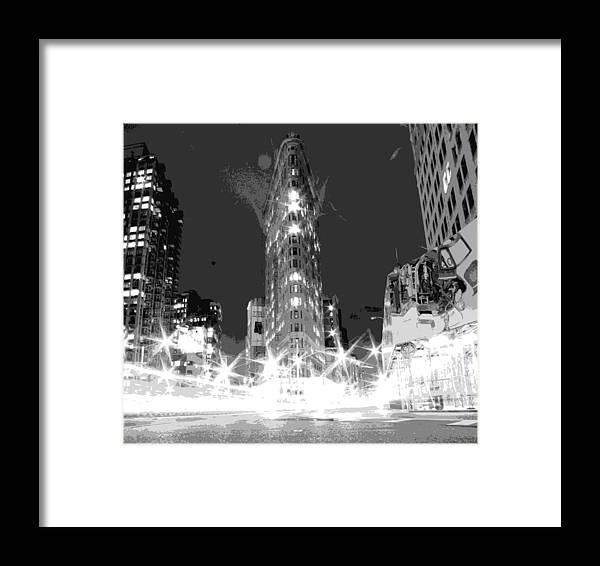Flatiron Building Framed Print featuring the photograph Flatiron Bw7 by Scott Kelley
