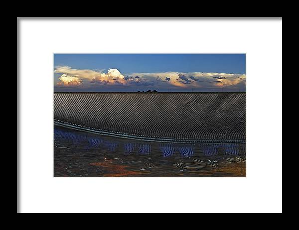 Clouds Framed Print featuring the photograph Flatland Farm by Robert Hudnall
