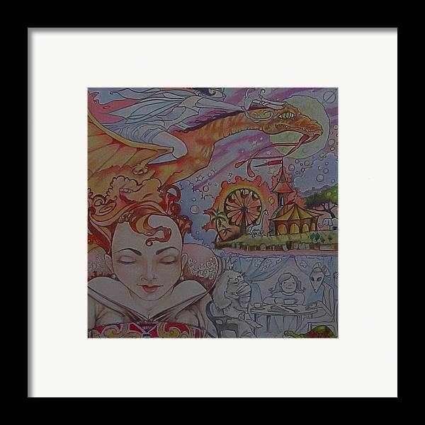 Dragon Circus Alien Moon Framed Print featuring the photograph Flight Of Fancy by Jackie Rock