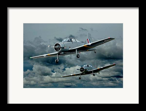 Planes Framed Print featuring the photograph Flight Of The Winjeels by Steven Agius