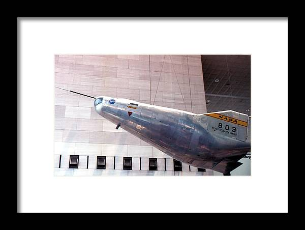 Photography Framed Print featuring the photograph Flight Research Vehicle by Lynnette Johns