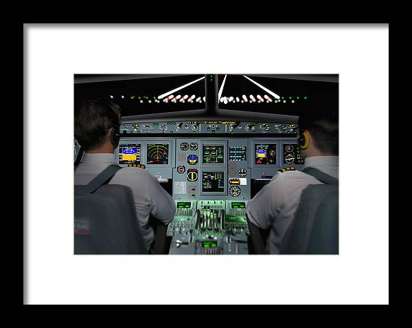 Flight Simulator Framed Print featuring the photograph Flight Simulator by Mike Miller