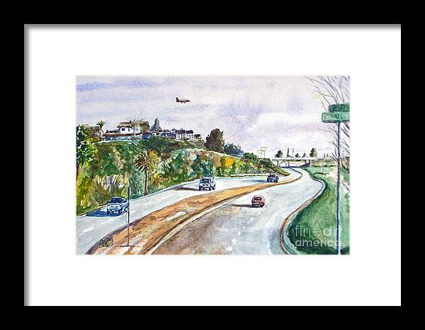 Flight Framed Print featuring the mixed media Flight To Bakersfield by Drina Fried