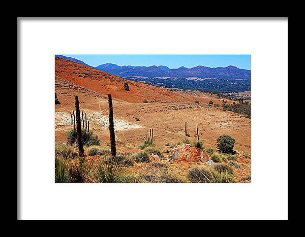 Hucks Lookout Framed Print featuring the photograph Flinders Ranges Hucks Lookout by Patricia Tapping