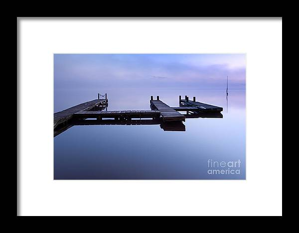 Lac Framed Print featuring the photograph Floating Platform by David Gimenez Aldalur