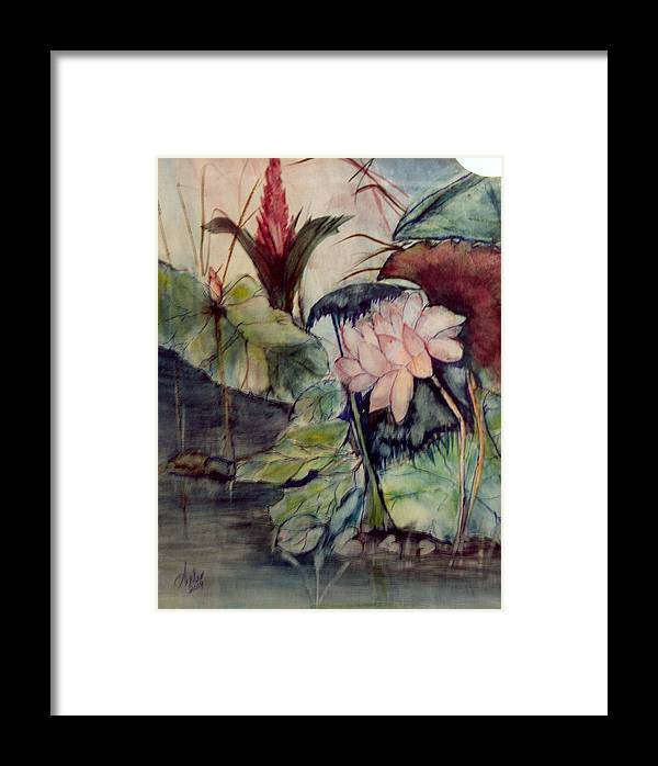 Flowers Framed Print featuring the painting Floral Elegance by Arlen Avernian - Thorensen