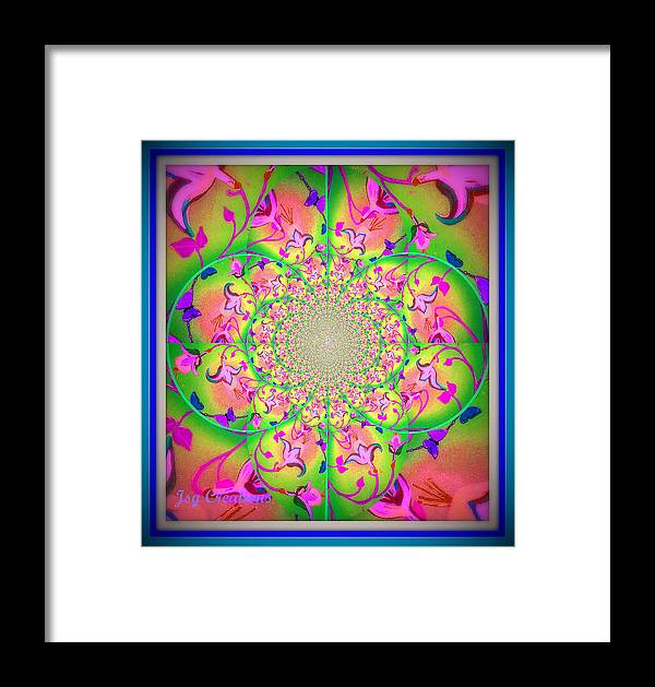 Fractal Framed Print featuring the digital art Floral Fractal by Jan Steadman-Jackson