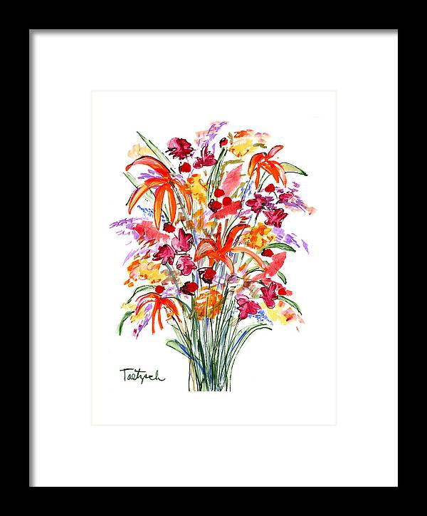 Flowers Framed Print featuring the painting Floral Six by Lynne Taetzsch