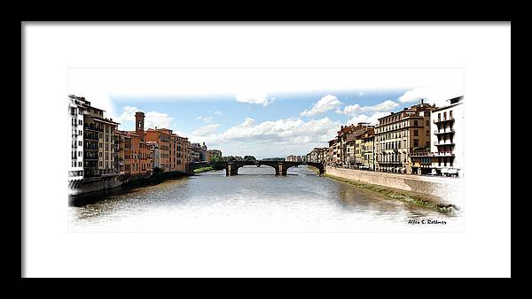 Florence Italy Framed Print featuring the photograph Florence Italy Pano by Allan Rothman