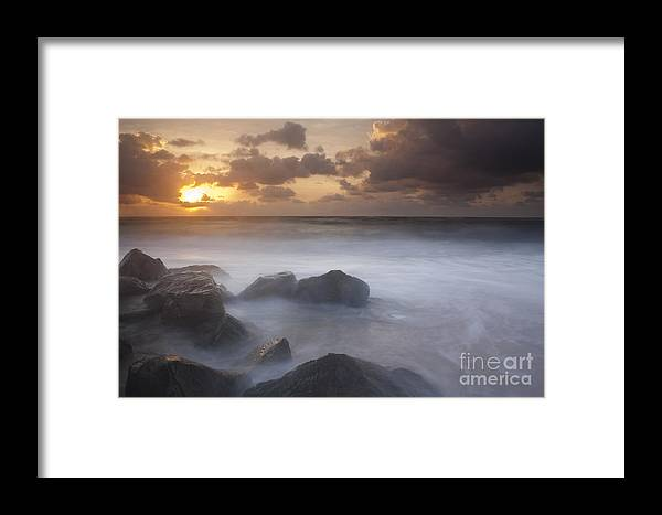 Long Exposure Framed Print featuring the photograph Florida Sunrise by Keith Kapple