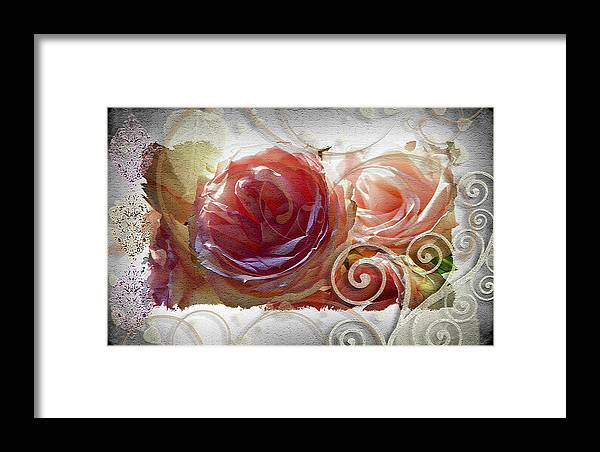 Roses Framed Print featuring the photograph Flourish by Sandra Sigfusson