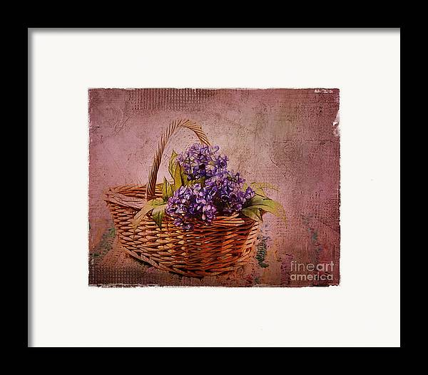 Flowers Framed Print featuring the photograph Flower Basket by Judi Bagwell