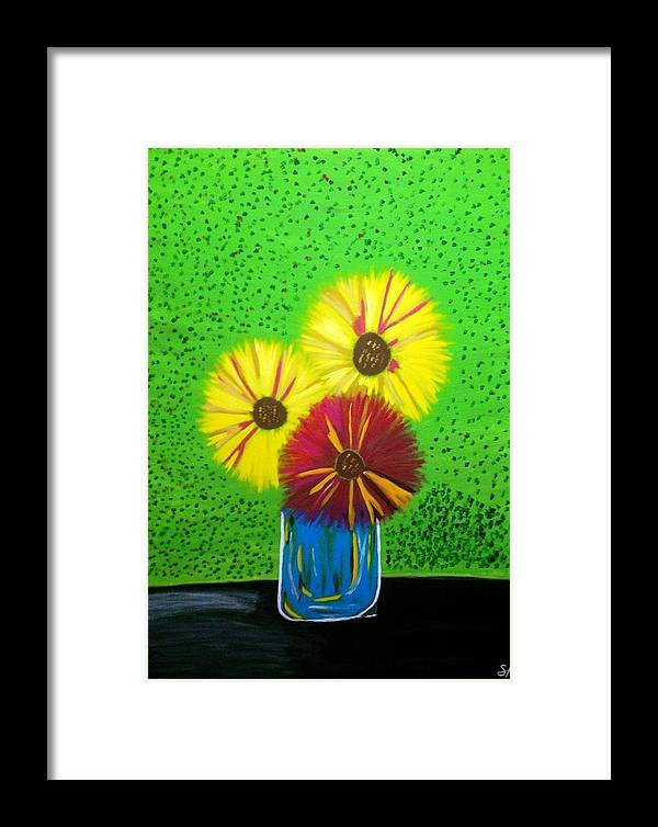 Flowers Framed Print featuring the painting Flowers by Stefanie Holmes