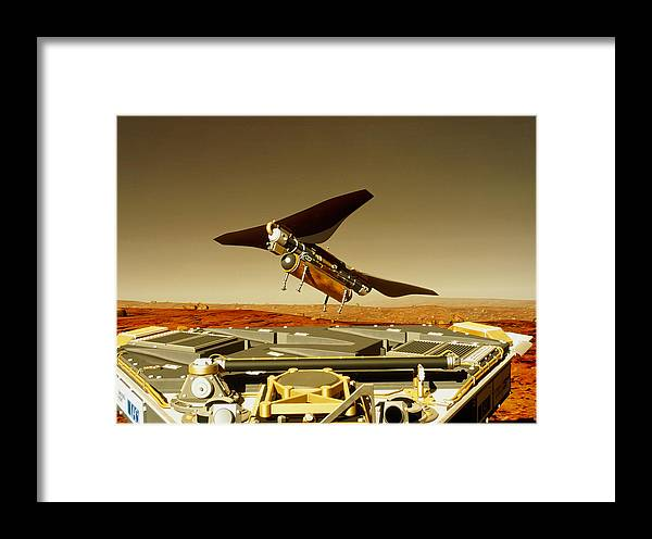 Insect Framed Print featuring the photograph Flying Insect Robot And Refueller by Rob Michelsongtri