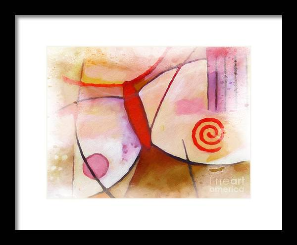 Flying Framed Print featuring the painting Flying by Lutz Baar
