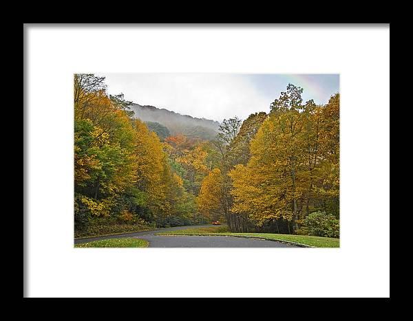 Autumn Framed Print featuring the photograph Foggy Autumn Day by Susan Leggett