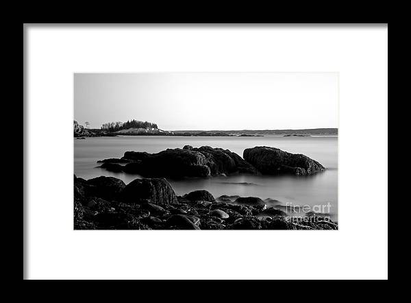 Maine Framed Print featuring the photograph Foggy Morn by Brenda Giasson
