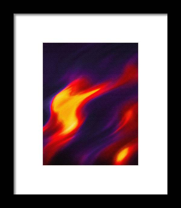 Light Framed Print featuring the photograph Folds Of Color Abstract - Flaming Fire by Steve Ohlsen
