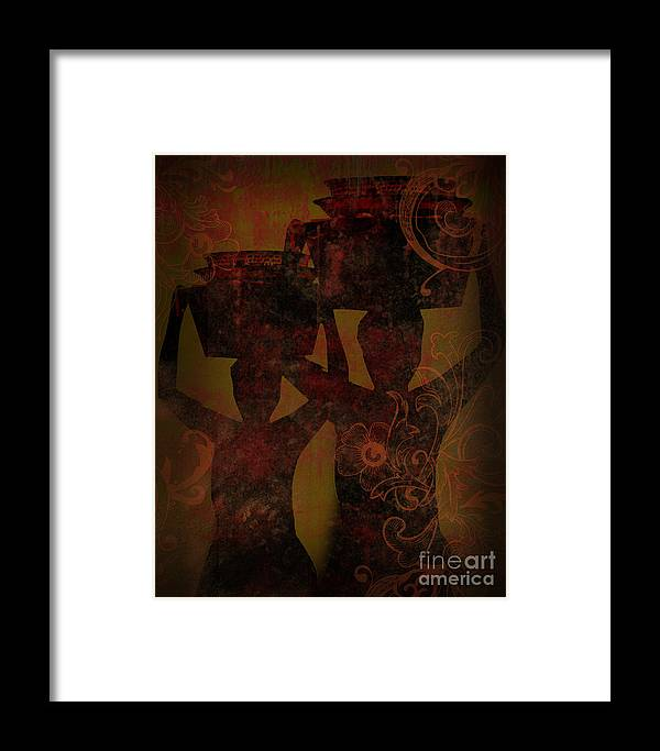 Abstracts Framed Print featuring the photograph Food For Thought by Lj Lambert