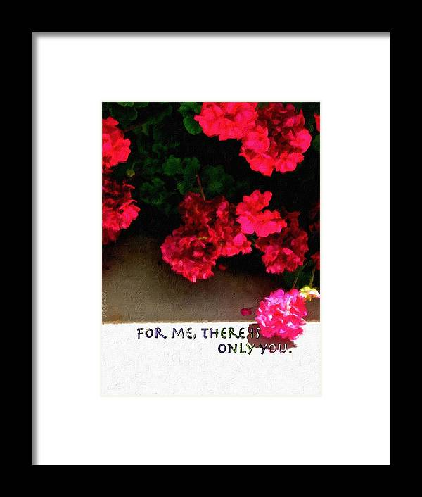 Romance Framed Print featuring the painting For Me There Is Only You by Brian D Meredith