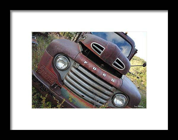 Car Framed Print featuring the photograph Ford by Bonae VonHeeder