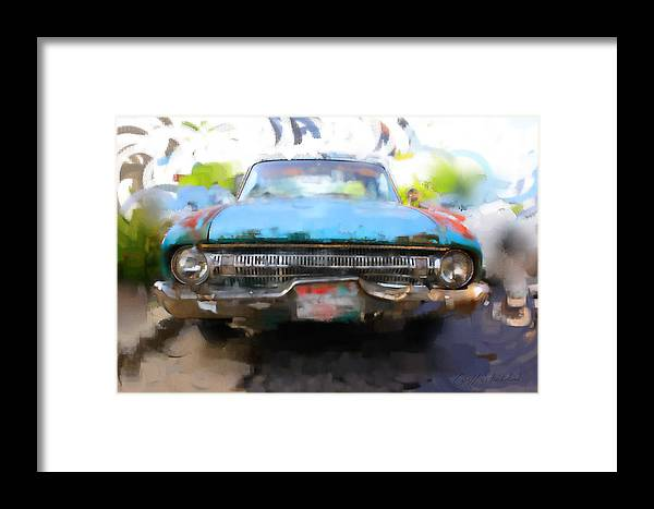 Ford Falcon Classic Rusty Old Milwaukee Wisconsin Framed Print featuring the digital art Ford Falcon by Geoff Strehlow