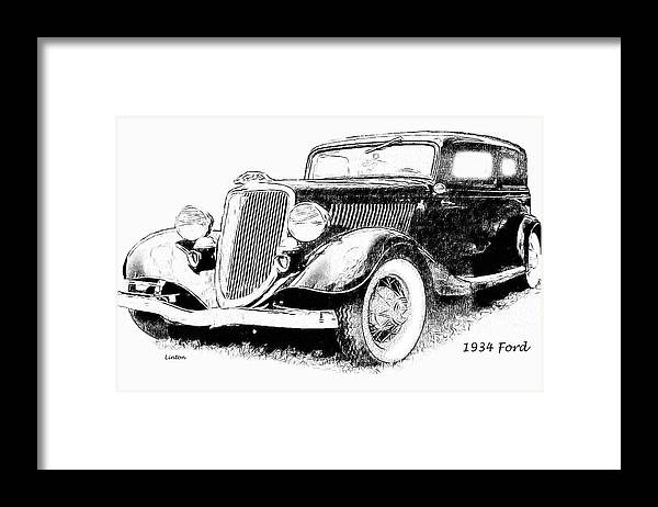 Ford Framed Print featuring the digital art Ford by Larry Linton