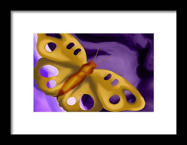 Butterfly Framed Print featuring the painting Foreboding by Christopher Acosta