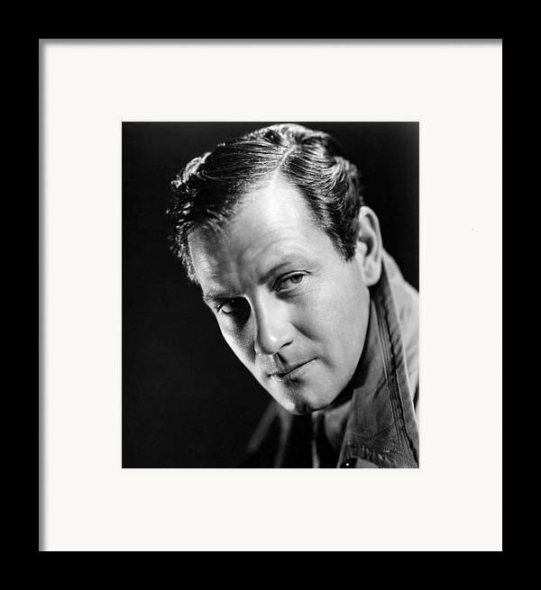1940 Movies Framed Print featuring the photograph Foreign Correspondent, Joel Mccrea, 1940 by Everett