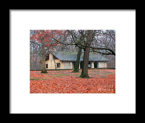 Architecture Framed Print featuring the photograph Forest Field House 1 by Cedric Hampton
