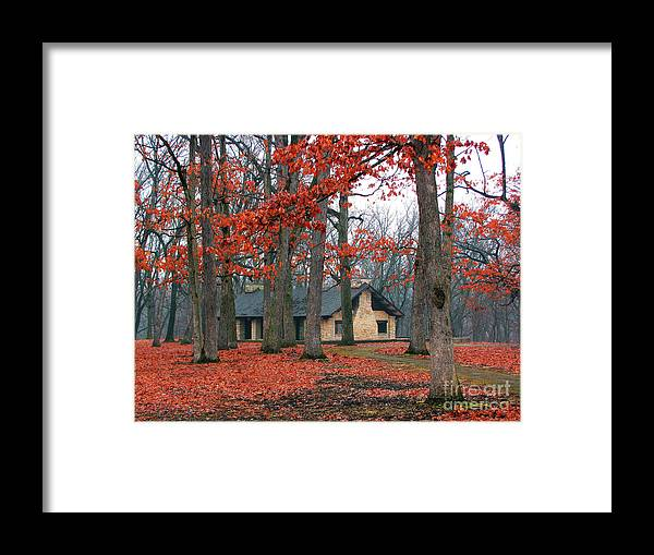 Architecture Framed Print featuring the photograph Forest Field House 2 by Cedric Hampton