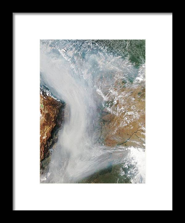 Andes Framed Print featuring the photograph Forest Fires In South America by Nasa