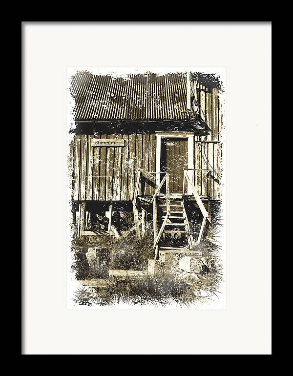 Heiko Framed Print featuring the photograph Forgotten Wooden House by Heiko Koehrer-Wagner